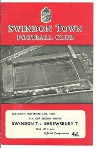 1960 Swindon Town v Shrewsbury Town [FAC]