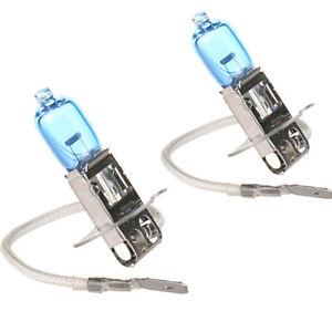 2x H3 100W 12V 6000K Bright White Gas Halogen Headlight Light Lamp Bulbs