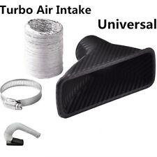 Carbon Fiber Color Square Car Autos Front Bumper Turbo Air Intake Pipe Universal