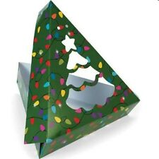 2 Christmas Gift Favor Sweets Box Clear Front Tree see thru Shape