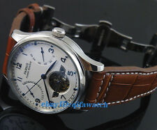 43mm Date White Dial Parnis Chronometer Power Reserve Automatic Men's Watch 1242