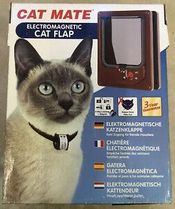 Cat Mate Electromagnetic Cat Flap - BROWN 254B
