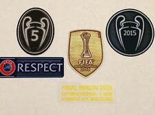UCL CHAMPIONS LEAGUE BARCELONA 2015  SET OF PATCH BADGE PARCHE 5 & FINAL EMBLEM