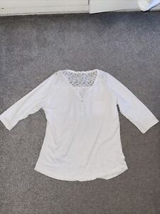 Fat Face White Top Size 16