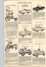 1954 PAPER AD Garton Kidillac Fire Chief Pedal Car Aeroflite Hot Rod Racer Race