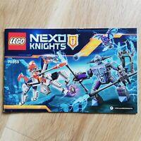 LEGO - INSTRUCTIONS BOOKLET ONLY Lance vs. Lightning - Nexo Knights - 70359