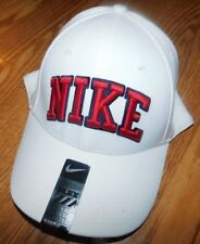 Nike Leg Block Swoosh White Mens/Boys Hat One Size BNWT
