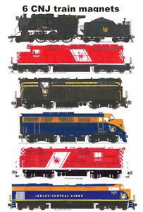 Central Railroad of New Jersey Locomotives 6 magnets Andy Fletcher