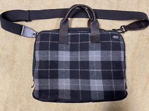Jack Spade Messenger Bag (Gray Plaid Wool)
