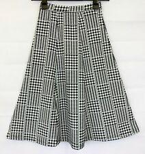 MISS SELFRIDGE Womens Black & White Flare Skirt Size 8