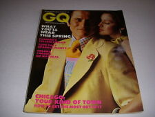 Vintage GENTLEMEN'S QUARTERLY GQ Magazine, March, 1973, CHICAGO, ENZO STUARTI!