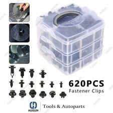 620Pcs Auto Car Body Plastic Push Pin Rivet Fasteners Trim Panel Moulding Clips