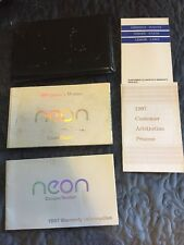1997 Dodge NEON Coupe/Sedan Owners Manual, Warranty Info & Protective Case