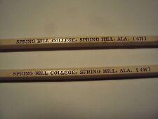 Vintage Spring Hill College Pencils, in original case, Mobile, Spring Hill ALA