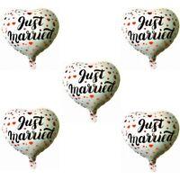 """5 Stück Aufblasbarer Folienballon Luftballon Ballon Hochzeitsdeko """"Just Married"""""""