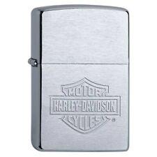 Zippo Harley Davidson® Brushed Chrome Benzinfeuerzeug Feuerzeug