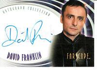 FARSCAPE SEASON FOUR AUTOGRAPH CARD A25 OF DAVID FRANKLIN AS LT. BRACA