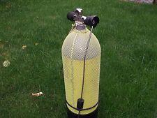Tauchflasche 10 L mit Ventil inclusive Notventil, Zugstange, Flaschenschutznetz