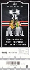 2015 CHICAGO BLACKHAWKS VS TAMPA BAY LIGHTNING STANLEY CUP TICKET STUB GAME D