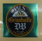 VINTAGE BRITISH BEER LABEL - GRUNHALLE DIET BEER 275ML 9.68 FL OZ