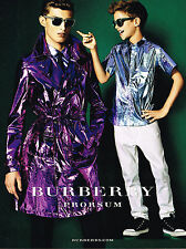 PUBLICITE  2013   BURBERRY PROSUM  pret à porter