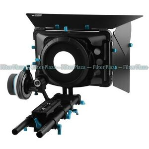 FOTGA PRO A/B Stop Follow Focus +Matte Box +15mm Rail Rod Baseplate for DSLR Rig