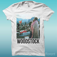 T-SHIRT UOMO WOODSTOCK PEACE AND LOVE VINTAGE IDEA REGALO ROAD TO HAPPINESS