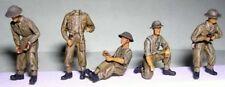 Milicast FIG048 1/76 Resin WWII British Field Gun Crew+ Optional Heads