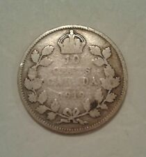 1919 10 Cents Canada George V Silver Coin
