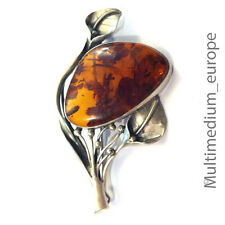 Silber brosche Bernstein brosche amber brooch 🌺🌺🌺🌺🌺