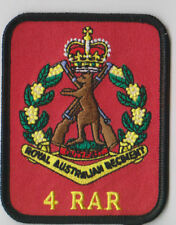 4TH BN RAR PATCH WITH SKIPPY BADGE  HEAT ADHESIVE BACKING 70 X 90MM INFANTRY