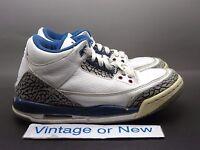 Nike Air Jordan III 3 True Blue Retro GS 2011 sz 4.5Y