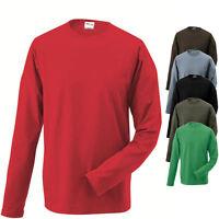 James & Nicholson Herren Longsleeve Langarm T-Shirt verschiedene Farben und Gr