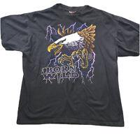 "Vtg Single Stitch ""Born Wild"" American Thunder PCA Tag Tshirt XL"