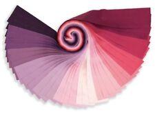 """Small Jelly Roll 24 x 2.5""""  Kaufman Kona Cotton WILDBERRY Palette"""