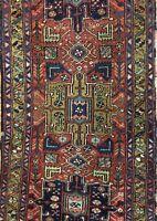 Handsome Heriz - 1930s Antique Persian Rug - Tribal Oriental Carpet - 3 x 10 ft