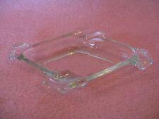 Vintage Diamond Shaped Clear Glass Ashtray