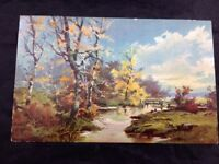 Vintage Early 1900s Pennsylvania Nature Painting Postcard