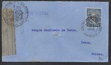 Ecuador Brief / cover 1915 mit Firmenlochung / Perfin + französische Zensur!