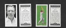 Type Cards: Kane Products - 1956 CRICKETERS set 1 and 2 VG+ - EX condition.