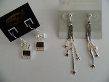2 x Silberfarbiege Ohringe.Metal .Von Desiree.Fashion Earrings