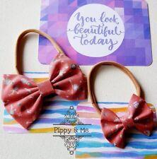 "Mermaid 2.5"" Fabric Bow On Headband - NWT Handmade"