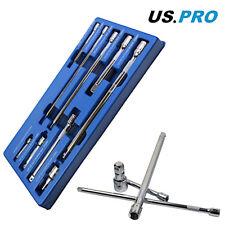 US Pro by Bergen Tools 9pc Socket Extension Bar Set 1/4'', 3/8'' & 1/2'' Drives