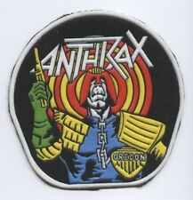 Anthrax Round synthetic 3D patch early 80's RARE