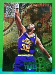 Karl Malone insert card Power Tools 1996-97 Fleer Metal #7