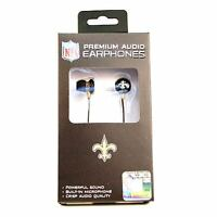 New Orleans Saints Earbuds -  Slimline Series - FREE U.S Ship NEW