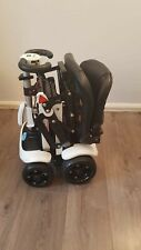 WHITE SOLAX MONARCH GENIE MANUAL FOLDING COMPACT MOBILITY BOOT SCOOTER