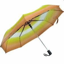 Cool Rainy Printed Colorful Horizontal Stripes 3 Folds Automatic Umbrella Yellow
