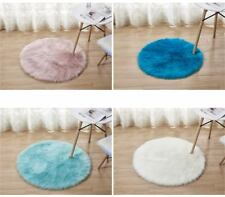 Soft Fluffy Faux Fur Circular Sheepskin Rug Round Floor Mat Available in 4 Sizes