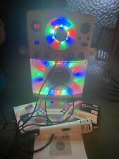More details for karoke machine with mic and discs lights up